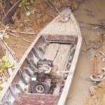 Boat on dry land — Stock Photo #65036919