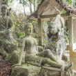 Stone statues at the magic garden — Stock Photo #68065191
