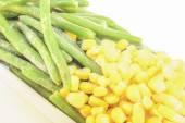 Green bean and corn — Stock Photo