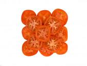 Beautiful juicy slices of tomato — Stock Photo