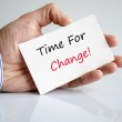 Time for change — Stock Photo #68155753