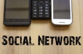 社会的ネットワークの概念 — ストック写真