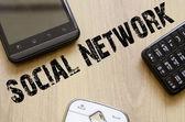 Koncepcja społecznej sieci — Zdjęcie stockowe