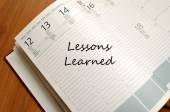 Lessons Learned Concept — Stock Photo