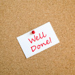 Well Done Note Concept — Stock Photo #71534683