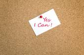 Sticky Note Yes I Can Concept — 图库照片