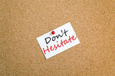 Sticky Note Don't Hesitate Concept — Stock Photo