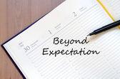 Beyong expectation concept — Stock Photo