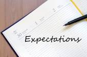 Expectations concept — Stock Photo