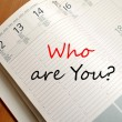 Who are you concept Notepad — Stock Photo #76595419