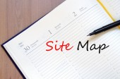 Site map text concept — Stock Photo