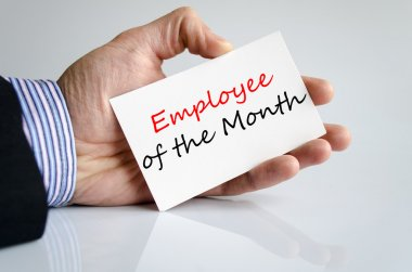 Employee of the month Text Concept
