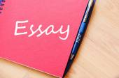 Essay text concept note — Stock Photo