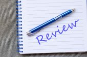 Review text concept note — Stock Photo