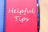 Helpful tips text concept — Stock Photo