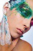 Mode konst ögon göra upp — Stockfoto