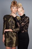 Två mode modeller — Stockfoto