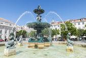 Pedro iv náměstí, lisabon, portugalsko — Stock fotografie