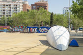 Homeless in Barcelona — Stock Photo
