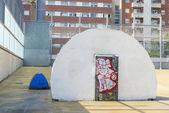 Homeless in Barcelona — Stock fotografie