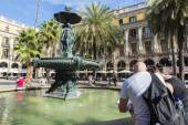 Placa Reial, Barcelona — Stock Photo