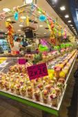 Fruit stand in La Boqueria, Barcelona — Stock Photo
