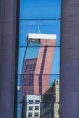 Skyscrapers reflected — ストック写真