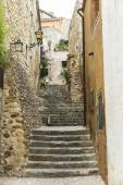 Medieval Street in Catalonia — Stock Photo
