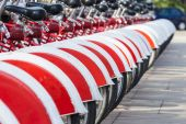 Bikes In A Row, Barcelona — Stock Photo