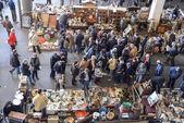 Mercado de pulgas, els encants vells, barcelona. — Foto de Stock