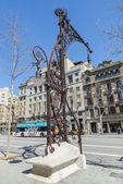 モダニスト様式の街灯、バルセロナ — ストック写真
