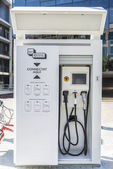 Filling station for electric cars — Stock Photo