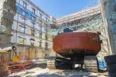 Construction site in Barcelona — Stock Photo