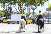 City police on horseback, Barcelona — Stock Photo