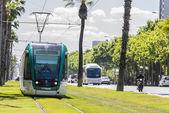 Tram in Barcelona — Stock Photo
