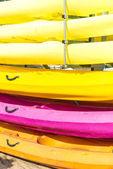 Kayaks closeup — Stock Photo