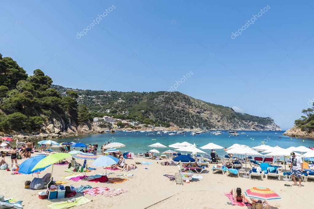 Aiguablava strand in costa brava katalonien spanien - Aiguablava costa brava ...