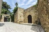 Medieval street in Catalonia — Stock Photo