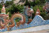 Tay tapınak taş Çince dragon — Stok fotoğraf