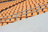 Seat of grandstand in an empty stadium — Stock Photo