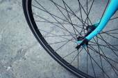 The wheels of bicycles parked at the park. — Stock Photo
