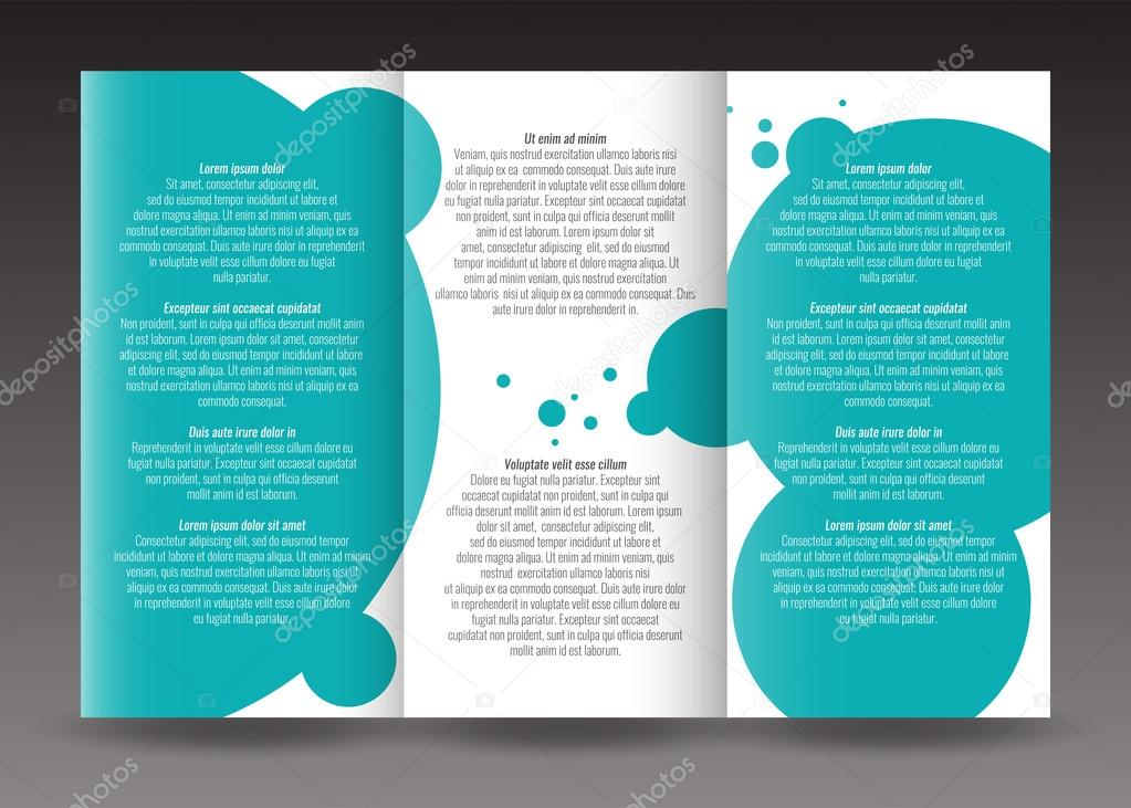 Corporate trifold brochure template design. With world map ...
