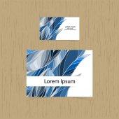 Set of greetings cards, business card. — Vetor de Stock