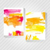 Watercolor Save The Date Card. — Stock Vector