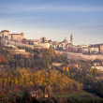 Città alta di Bergamo — Stock Photo #59559923
