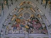 Bern Minster portal: Last Judgement — 图库照片