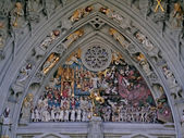 Bern Minster portal: Last Judgement — Stockfoto