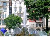 Fountain in Lugano — Stock Photo