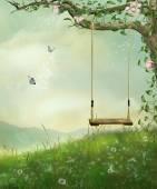 Swing no morro — Fotografia Stock