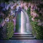 Fantastic lights of an open door — Stock Photo #62640573